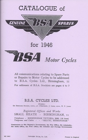 ELK Promotions - Classic Motorcycle Re-Print Manuals